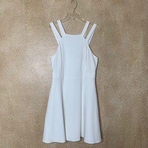 NEW French Connection | White Halter Skater Dress
